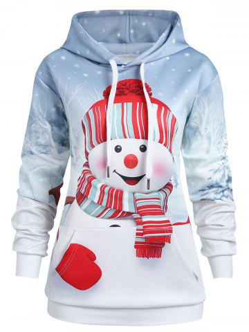 51 christmas snowman plus size hoodie