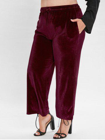 Plus Size Ninth Velvet Pants