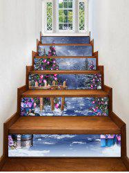 Christmas Baubles Pine Tree Stair Stickers -