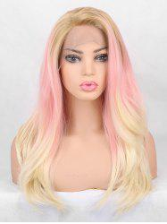 Long Side Bang Layer Colorful Straight Synthetic Lace Front Wig -