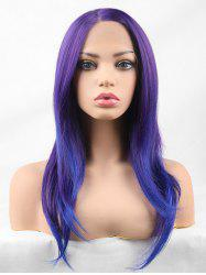 Long Side Parting Colormix Straight Cosplay Lace Front Synthetic Wig -