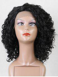 Short Side Fringe Kinky Curly Lace Front Synthetic Wig -