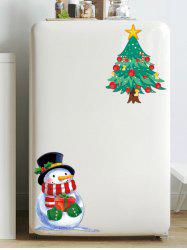 Christmas Tree Snowman Pattern Removable Wall Sticker -