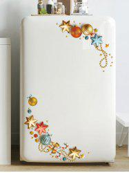 Christmas Ball Star Pattern Removable Wall Sticker -
