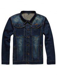Plus Size Chest Pockets Denim Jacket -