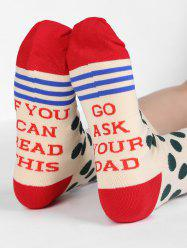 Fun Printed Polka Dot Crew Socks -