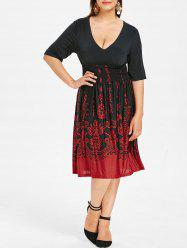 Plus Size Barque Smocked Dress -