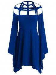 Halloween Costume Hollow Out Flare Sleeves Dress -