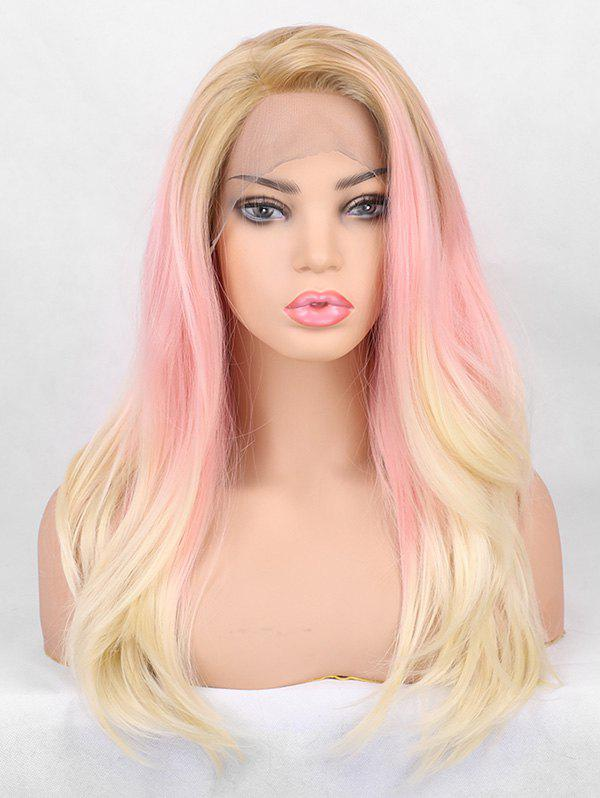 Store Long Side Bang Layer Colorful Straight Synthetic Lace Front Wig