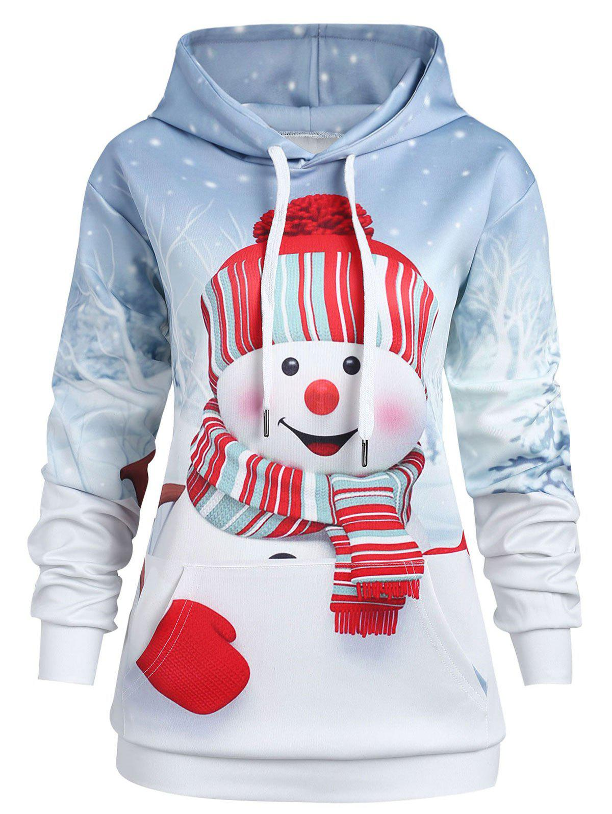 New Christmas Snowman Plus Size Hoodie