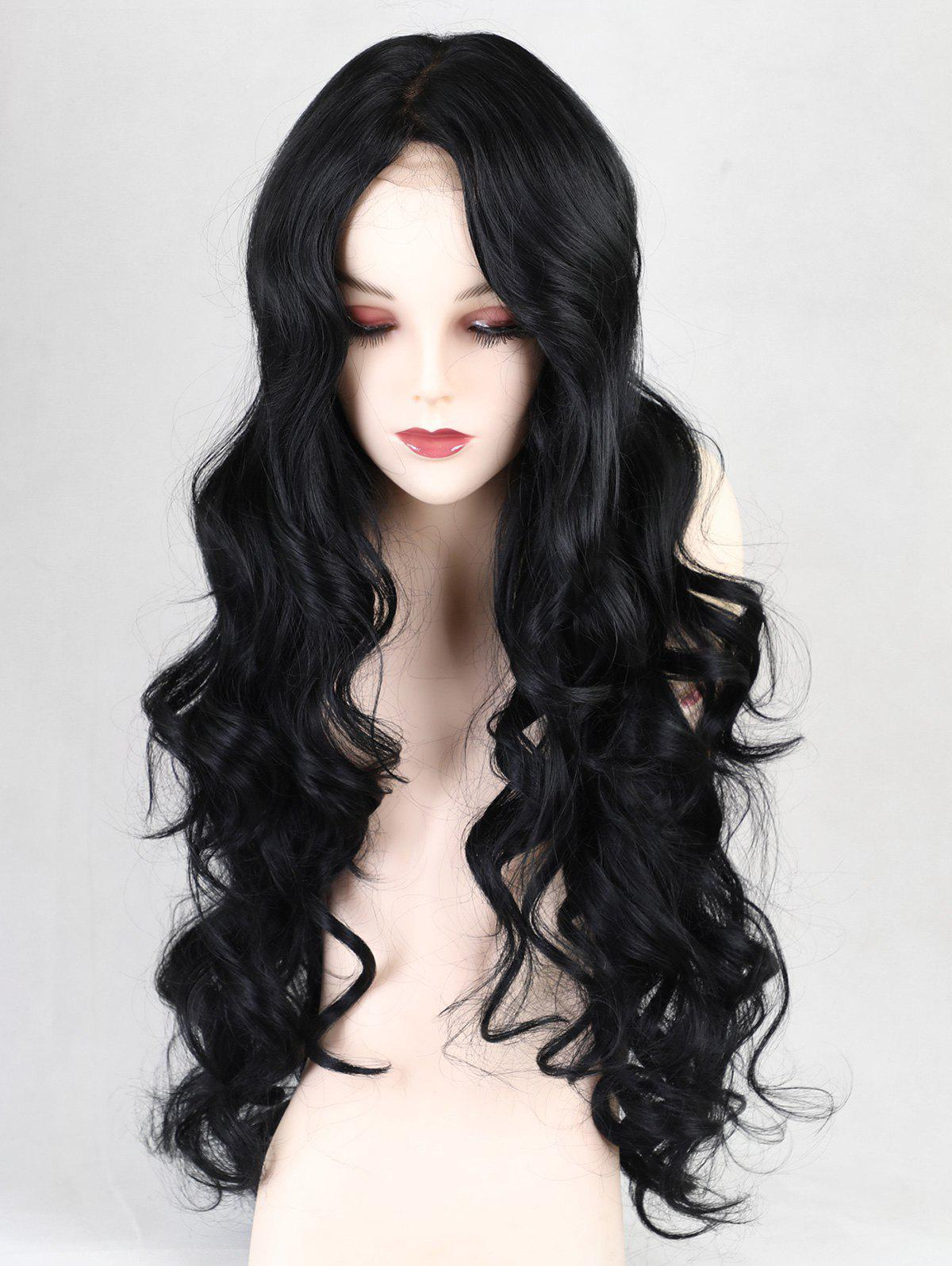 Fancy Long Middle Part Loose Wave Party Synthetic Lace Front Wig