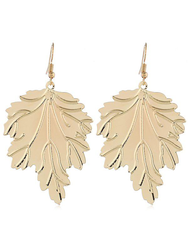 Outfit Beaded Leaf Shaped Earrings
