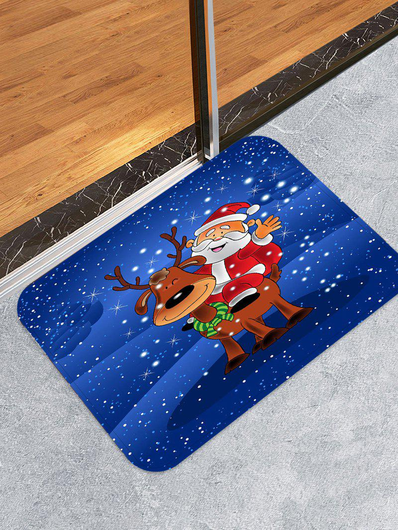 Shops Father Christmas Deer Printed Decorative Floor Mat