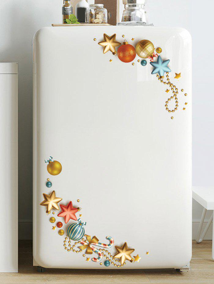 Fashion Christmas Ball Star Pattern Removable Wall Sticker