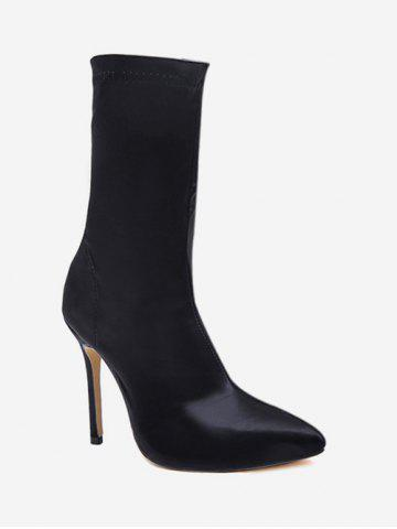 Pointed Toe High Heel Sock Boots
