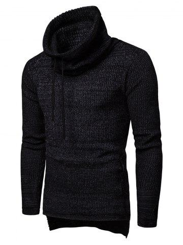 Casual Drawstring Graphic Pocket Sweater