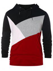 Casual Panel Pullover Hoodie -