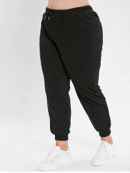 Plus Size Solid Color Jogger Pants -