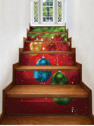 Christmas Balls Pattern Removable Stair Stickers -