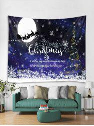 Christmas Night Greeting Print Tapestry Wall Hanging Decoration -