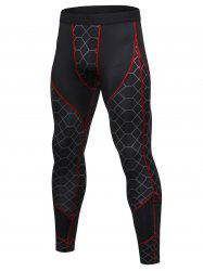 Gird Pattern Quick-dry Sport Pants -