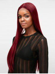 Free Part Long Straight Party Synthetic Lace Front Wig -