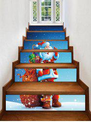 Father Christmas Gift Printed Removable Stair Stickers -