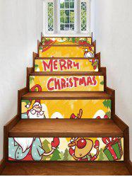 Merry Christmas Deer Gift Printed Removable Stair Stickers -