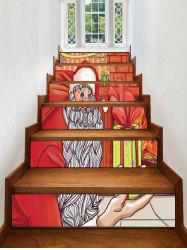 Father Christmas Gift Pattern Removable Stair Stickers -