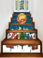 Father Christmas Tree Deer Removable Stair Stickers -
