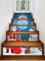 Santa Claus Snowman Christmas Stair Stickers -