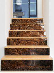 Tree Pattern Road Scenery Stair Stickers -