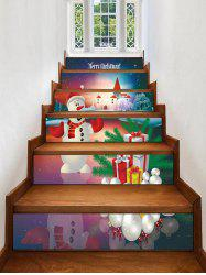 Christmas Gifts Snowman Pattern Stair Stickers -