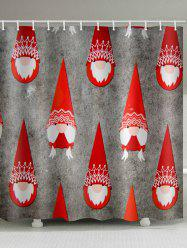 Christmas Cap Print Waterproof Bathroom Shower Curtain -