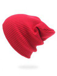Winter Stripe Knitted Slouchy Beanie -