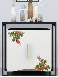 Christmas Theme Leaf Removable Wall Sticker -