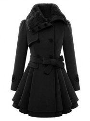Double Breasted Turn Down Collar Coat -