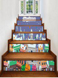 Christmas Gift Printed Removable Stair Stickers -