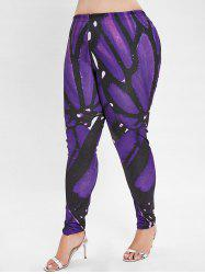 Plus Size Graphic Leggings with High Waisted -