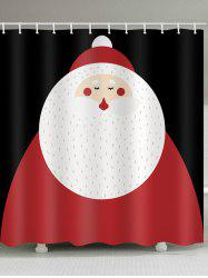 Christmas Santa Claus Print Waterproof Bathroom Shower Curtain -