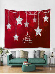 Christmas Stars Print Tapestry Wall Hanging Decoration -