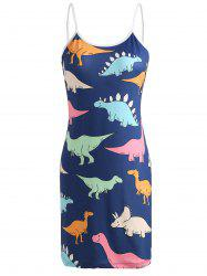 Cartoon Dinosaur Print Sleeping Dress -