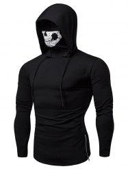 Fashion Drawstring Scare Mask Hoodie for Man -