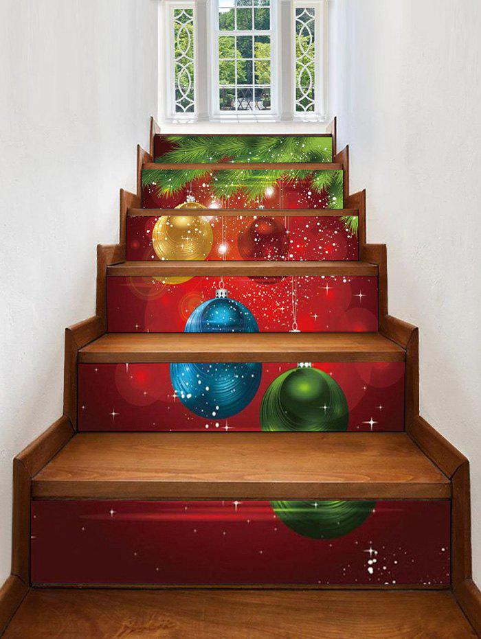 Outfits Christmas Balls Pattern Removable Stair Stickers