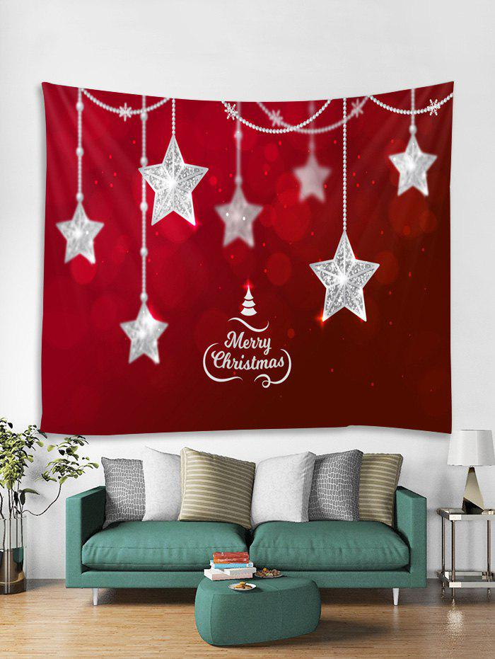 Affordable Christmas Stars Print Tapestry Wall Hanging Decoration