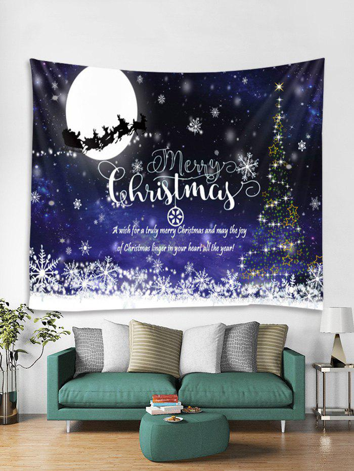 Online Christmas Night Greeting Print Tapestry Wall Hanging Decoration