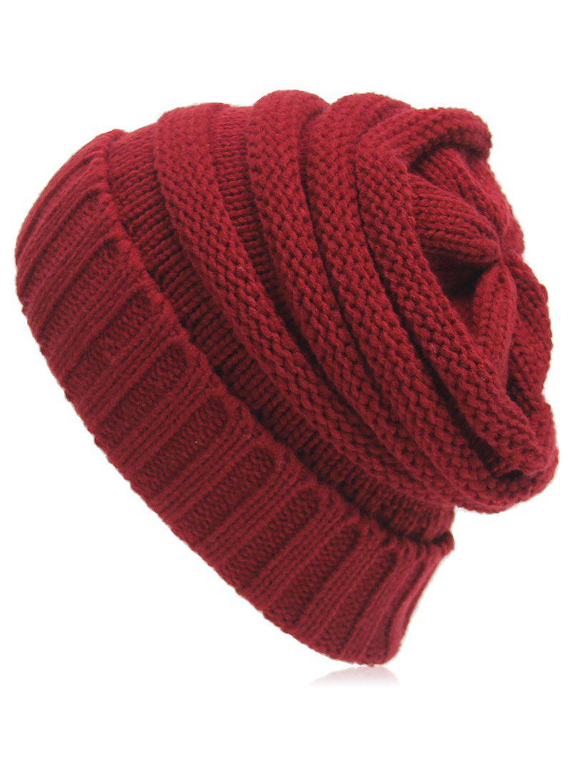 Winter Crochet Knitted Flanging Beanie
