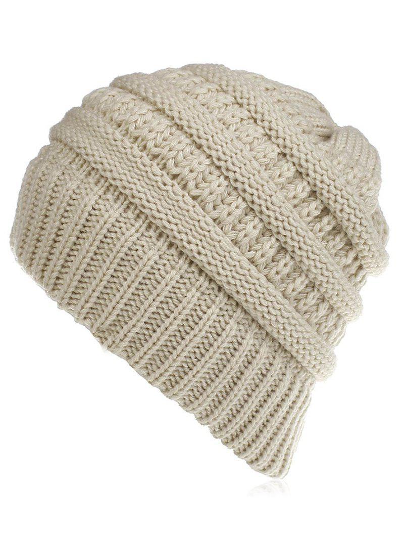 Fancy Solid Color Thick Knitted Baggy Beanie