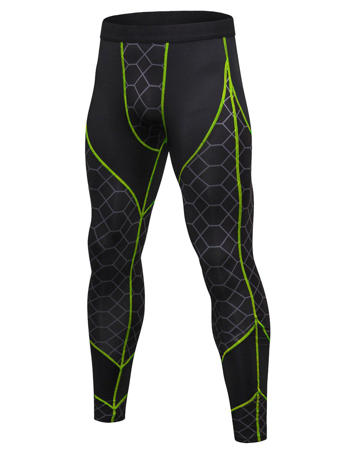 Affordable Gird Pattern Quick-dry Sport Pants