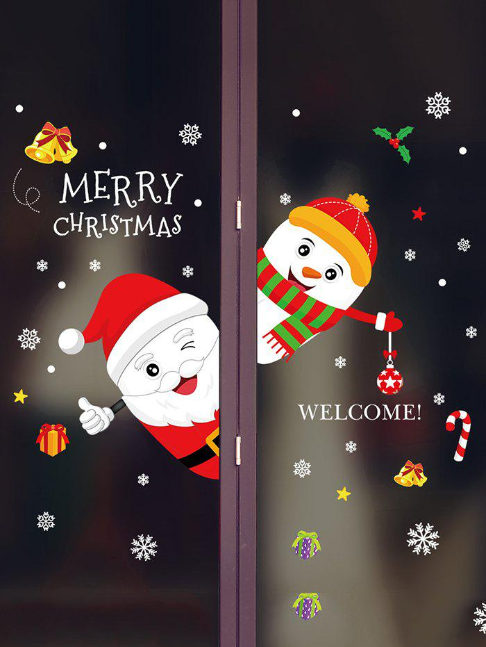 Best Merry Christmas Snowman Removable Wall Sticker